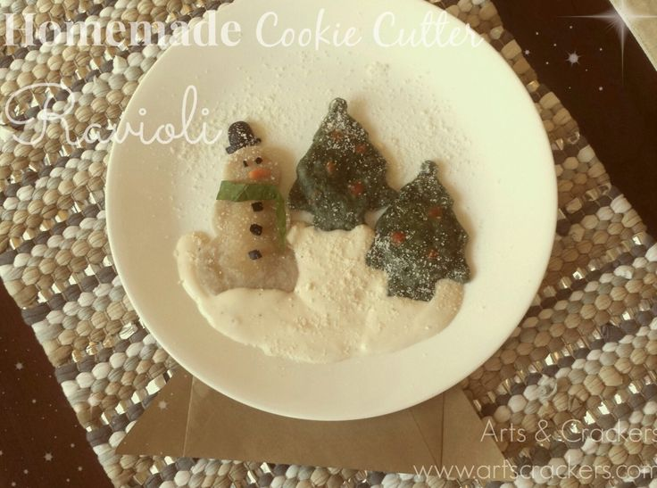 homemade cookie cutter shapes three cheese ravioli