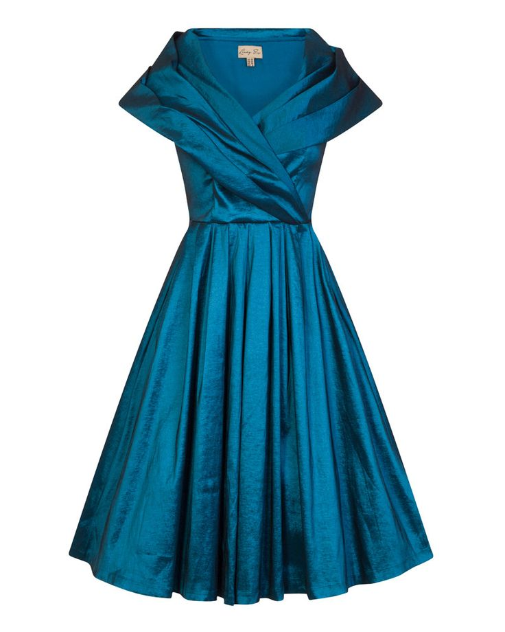 Amber Blue Occasion Swing Dress | Vintage Style Fashion - Lindy Bop