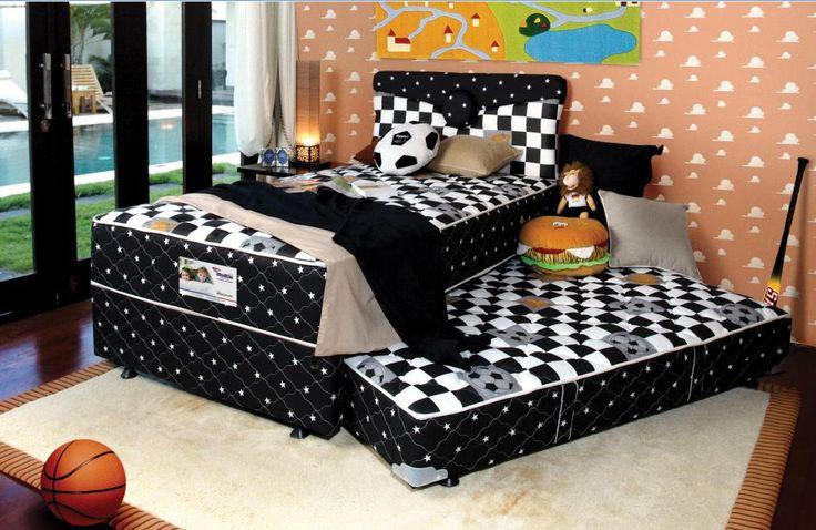 Ingin membuat tidur si kecil semakin nyenyak? gunakan saja Spring Bed American Pillo Kids yang satu ini  Dengan warna dan bentuknya yang menarik, Spring Bed American Pillo Bed akan membuat tidur si kecil semakin nyenyak. Tertarik untuk memilikinya? #PilloBed
