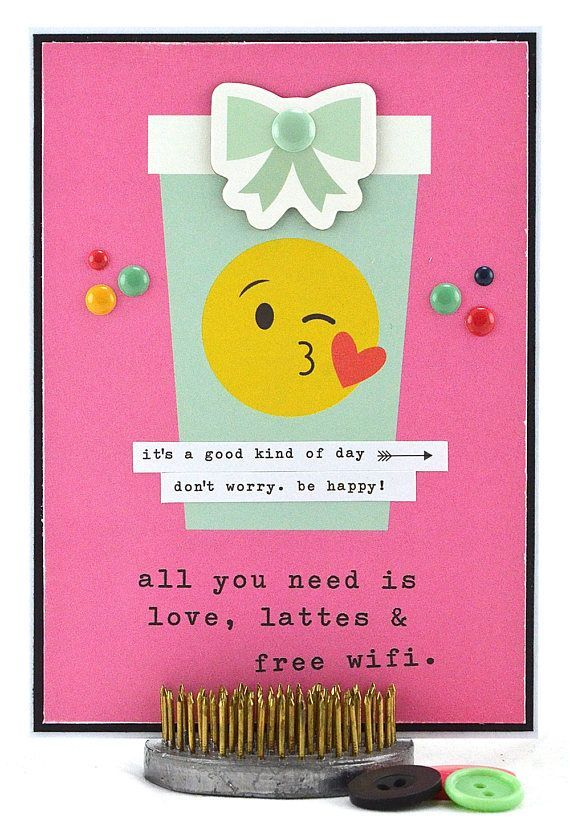 Sending or gifting a homemade happy birthday card really shows you care, not just about the recipient but about making their day extra special — a day to remember.  This silly birthday card, with its emoji theme, is perfect as a sister birthday card, BFF birthday card or dear friend birthday card. To purchase this card, please click on the image.