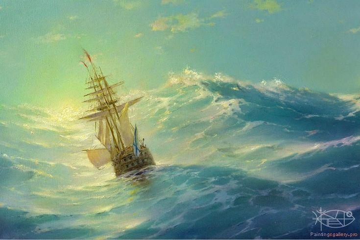 pinturas-al-oleo-con-temas-de-mar