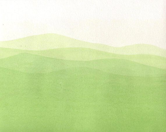 Light green abstract painting. Meadow painting. Minimalism ...