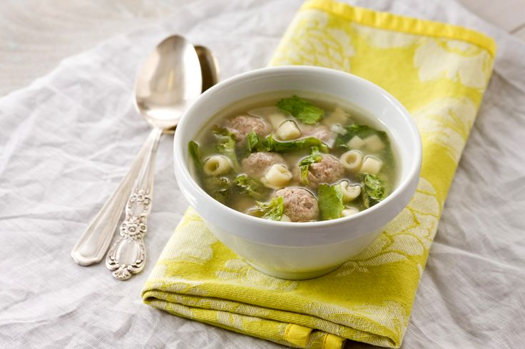Italian Wedding Soup With Turkey Meatballs Recipe — Dishmaps
