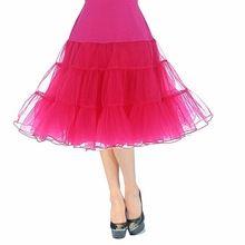 Petticoat Onderrok 17 Kleuren Vrouwen Retro Vintage Jurk Hoepelrokrok Rockabilly Onderrok Voor Bruiloft(China (Mainland))