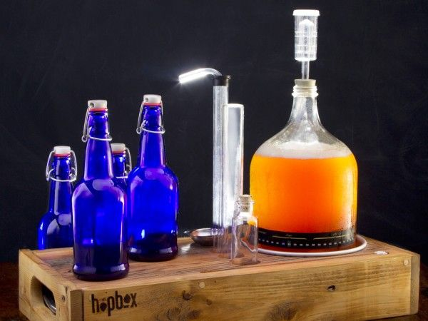 Home Brewing Kit by HopBox - small-batch  home-brew kits handmade from reclaimed wood and locally-sourced pine in the USA