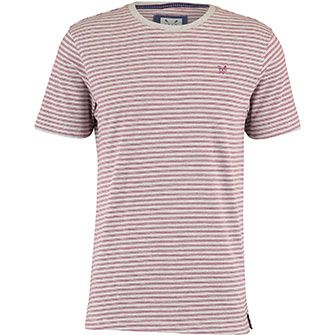 Grey & Red Stripe T-Shirt