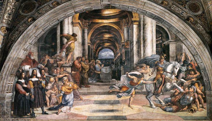 Cacciata di Eliodoro dal tempio. Stanza di Eliodoro