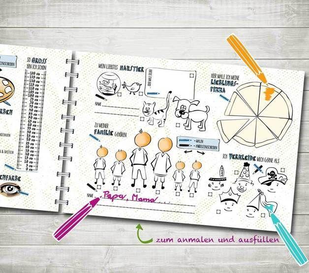 Bücher - Freundebuch Kindergarten Freunde-Block - ein Designerstück von nordencreativ-design bei DaWanda