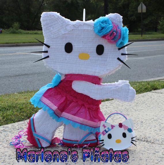 Piñatas~Hello Kitty Piñata  by Marlenespinatas on Etsy