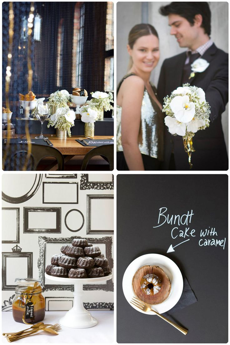 The Most Gorgeous Black White And Gold Wedding Decor