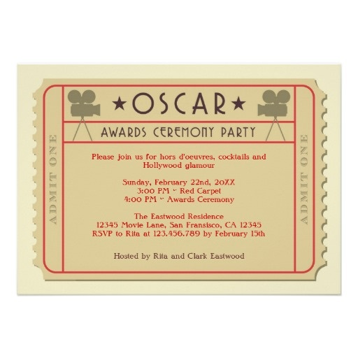 361 best oscar party time. images on pinterest | oscar party, Party invitations