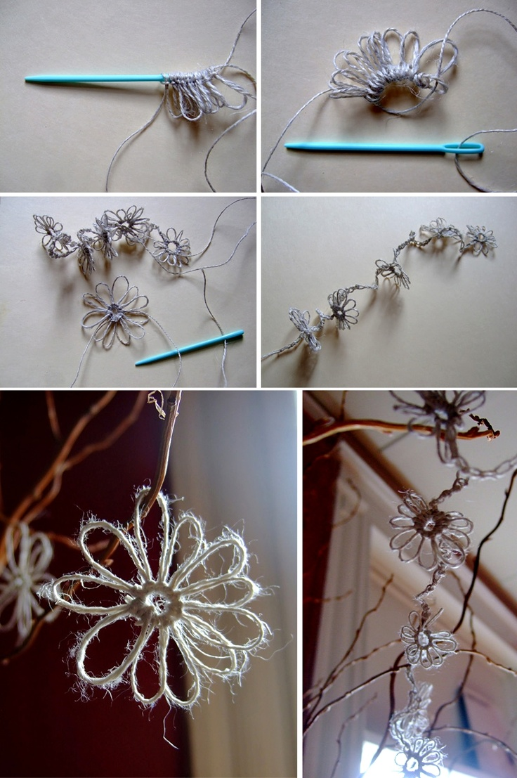 DIY: spring flowers - Full Tutorial.  Tree decorations, gift wrapping decorations... ect.
