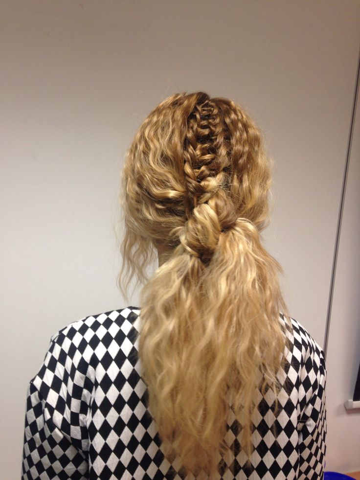 Detailed ponytail for Loreal long hair work shop #texture #braids ❤️