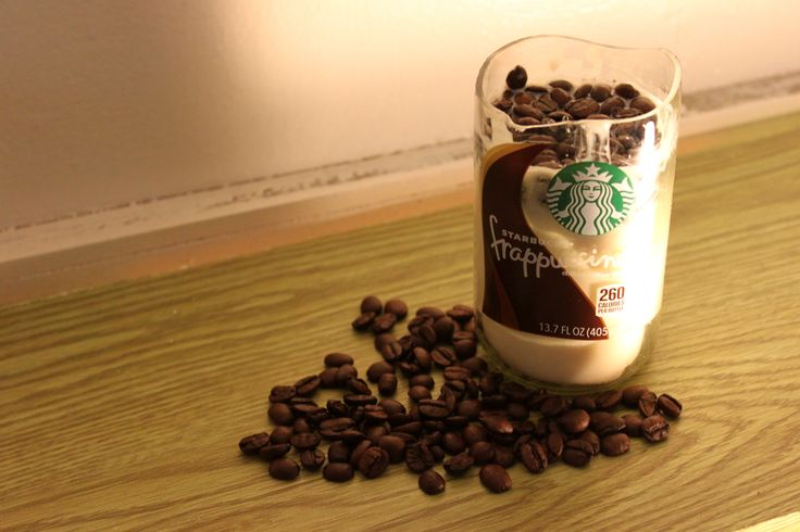 How make a coffee candle (includes instructions on how to cut glass.