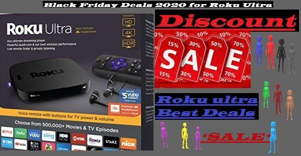 Roku Ultra 2020 Black Friday Sale In 2020 Roku Voice Remote Roku Streaming Stick