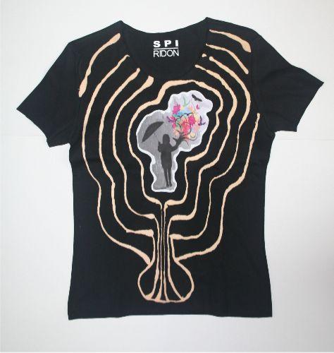 code 0229 ladies hand painted t-shirt