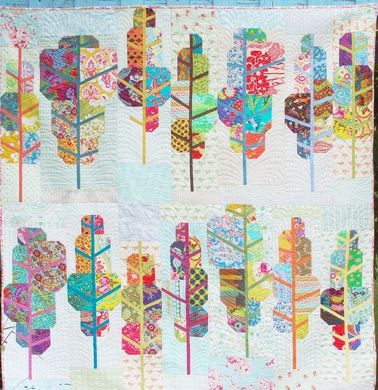Painted Forest quilt pattern by Scott Hansen | Blue Nickel Studios