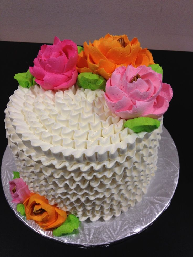 buttercream flowers   Ruffle buttercream cake by The White Flower ...   Our Occasional Cakes