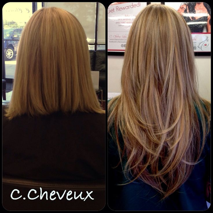 Before and after Balmain hair extensions