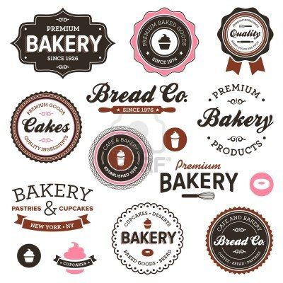 Set of vintage retro bakery badges and labels Stock Photo - 12333050