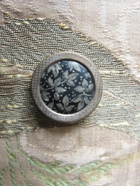 Antique Victorian THREAD BACK Button Lovely Design For Your Button Collection