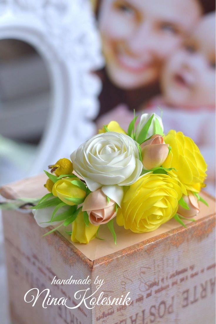 Свадебный цветочный венок для невесты – купить в интернет-магазине на Ярмарке Мастеров с доставкой