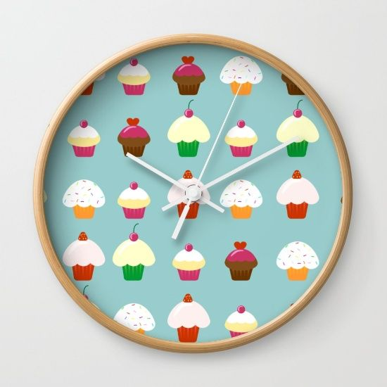 Cupcake Patten on a clock
