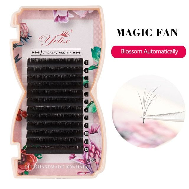 22a8f312be9 Yelix False Individual Fan Volume Lashes Blossom Eyelash Extension Bloom 3D  Mink Magnetic Camellia Fake Eyelashes Extensions Review