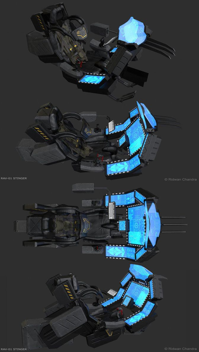 RAV-01 Stinger Cockpit by MeganeRid
