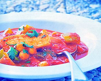 Afrikanischer Tomatentopf … richtig schön scharf und fruchtig …1 Gemüsezwiebel – 2 grüne Paprikaschoten – 4 Knoblauchzehen – 100 ml Mango- oder 100% Orangensaft &#8211…