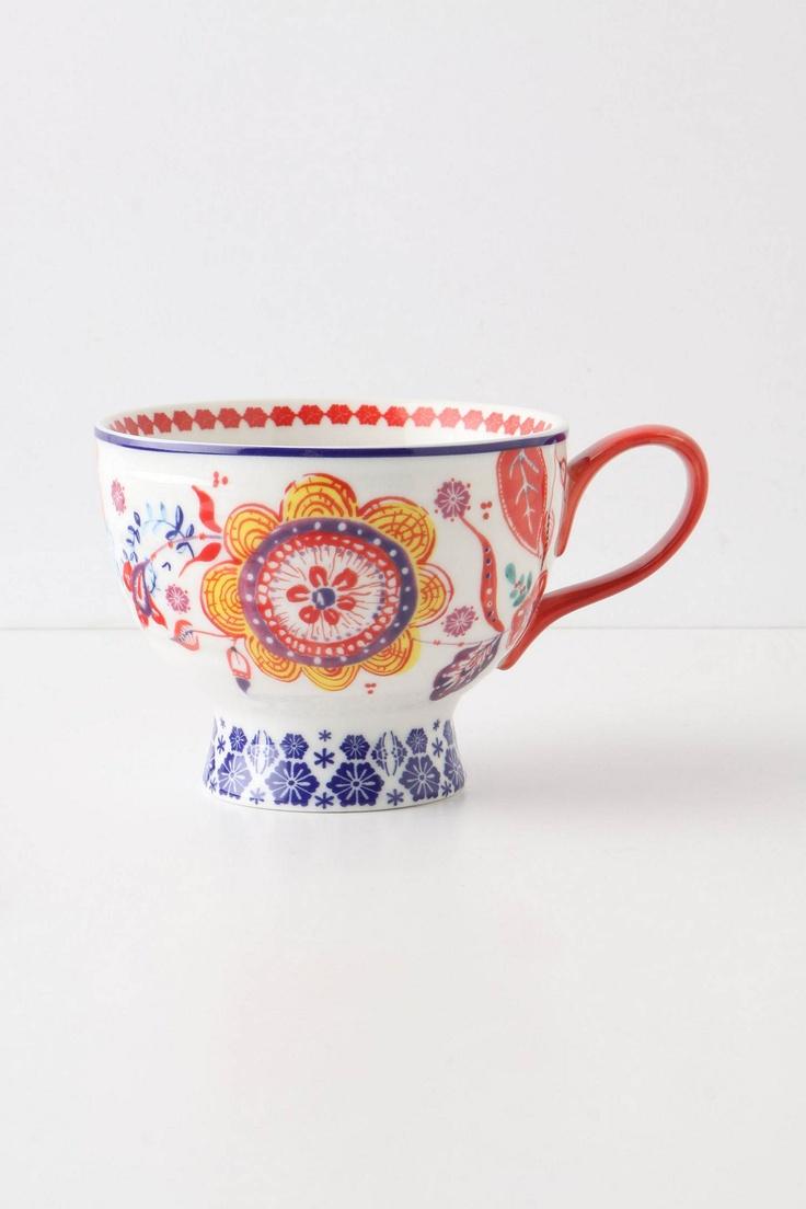 Sip-Of-Nectar Mug - Anthropologie.com red