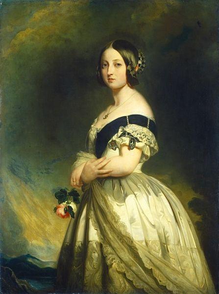 Resultado de imagen para Retrato de reina victoria en 1845 de Franz Xaver