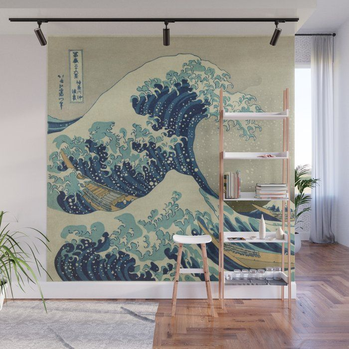 The Great Wave off Kanagawa No Mess Removable Accent Wall Mural. With these Wall…