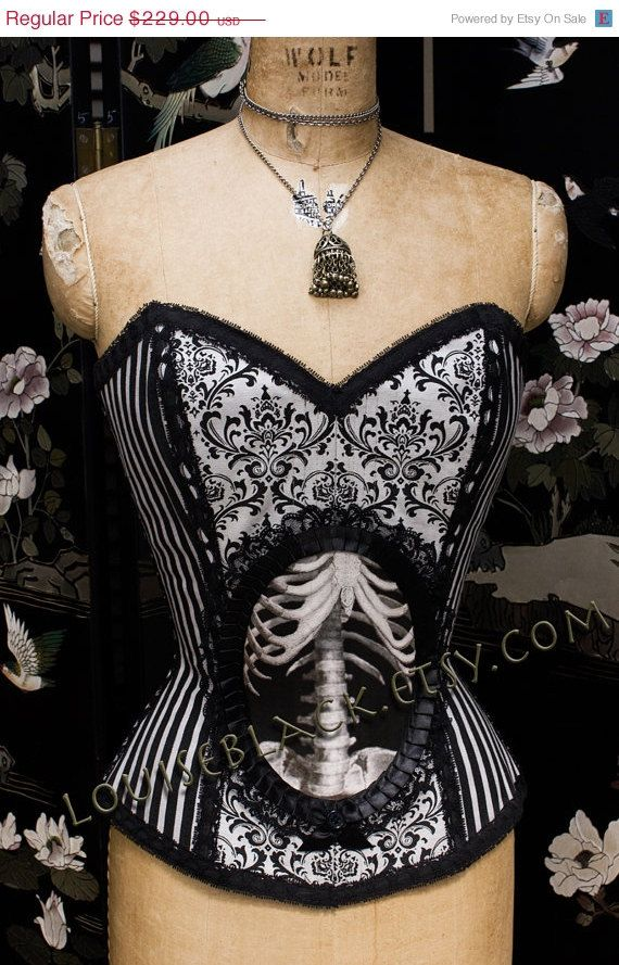 My first bespoke!   So excited SPRING SALE New Overbust X Ray Skeleton Cameo by louiseblack  #louiseblack #corset #bespoke