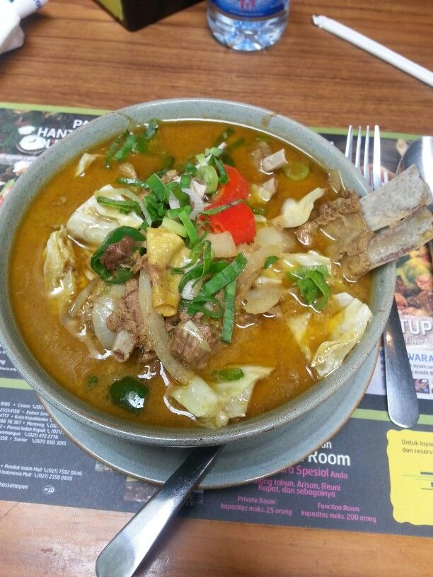Tongseng Soup. Lite vesion of indonesian gulash. Use lamb/beef/chicken cooked with cabbage and tomato. From Central Java, Indonesia.