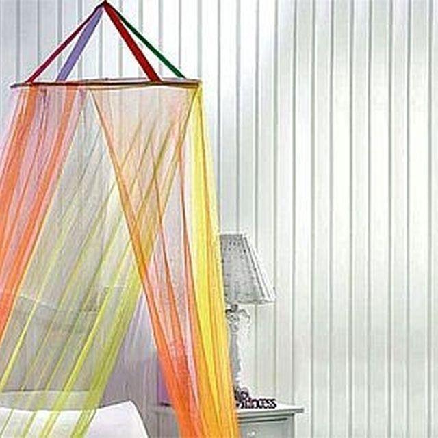 Make a Hula Hoop Canopy