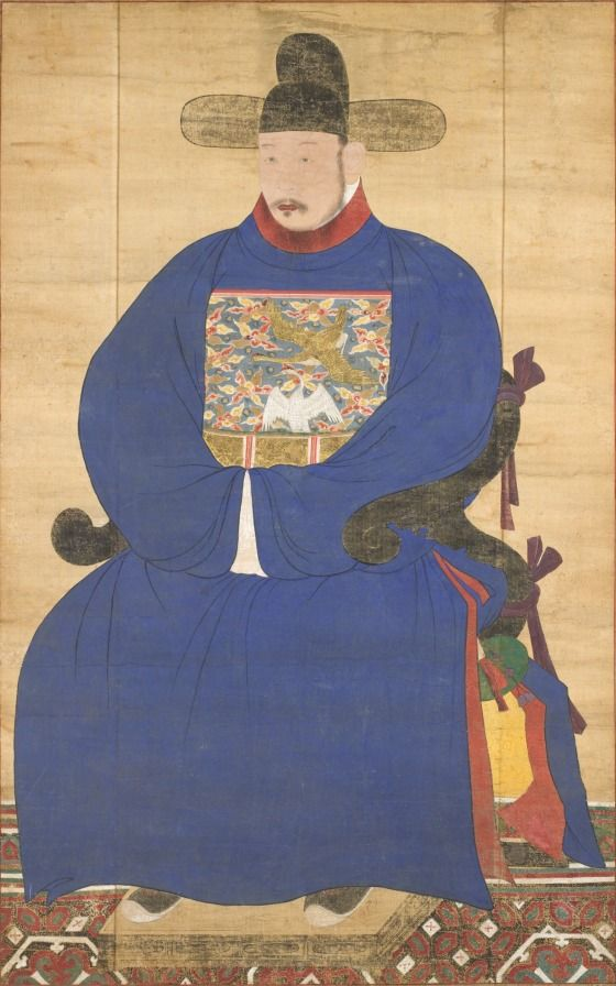 Portrait of a Meritorious Subject Korea, Korean, Joseon dynasty (1392-1910), 18th century Paintings Hanging scroll mounted as a panel, ink and color on silk Image: 61 1/4 x 39 in. (155.58 x 99.06 cm); Mount: 63 1/2 x 40 3/4 in. (161.29 x 103.5 cm) Purchased with Museum Funds (M.2000.15.15) Korean Art Not currently on public view Korean Art Collection of the Los Angeles County Museum of Art, U.S.A. Daejeon, Republic of Korea: National Research Institute of Cultural Heritage, 2012.