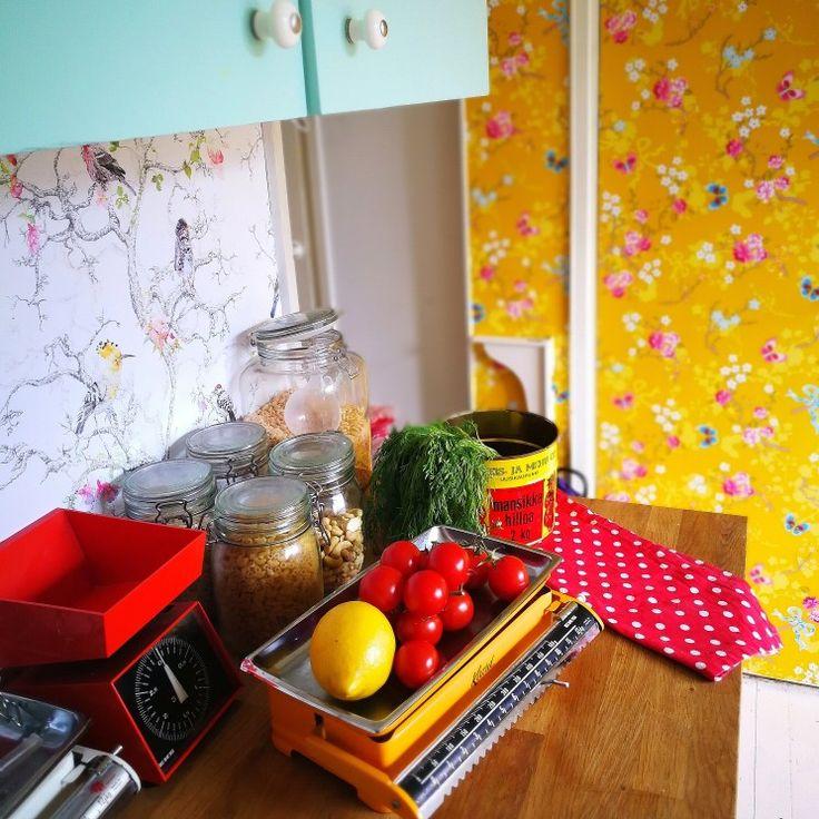 #kitchen #pipstudio #yellow #retro