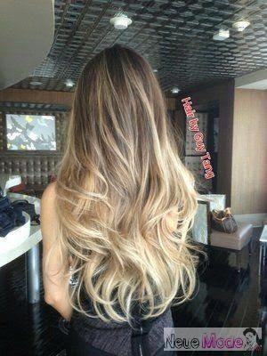00b815399a988 Balayage Haare 2019 | Bayalage Hair | Ombre Saç Modelleri, blonde strähnen,  balayage technik