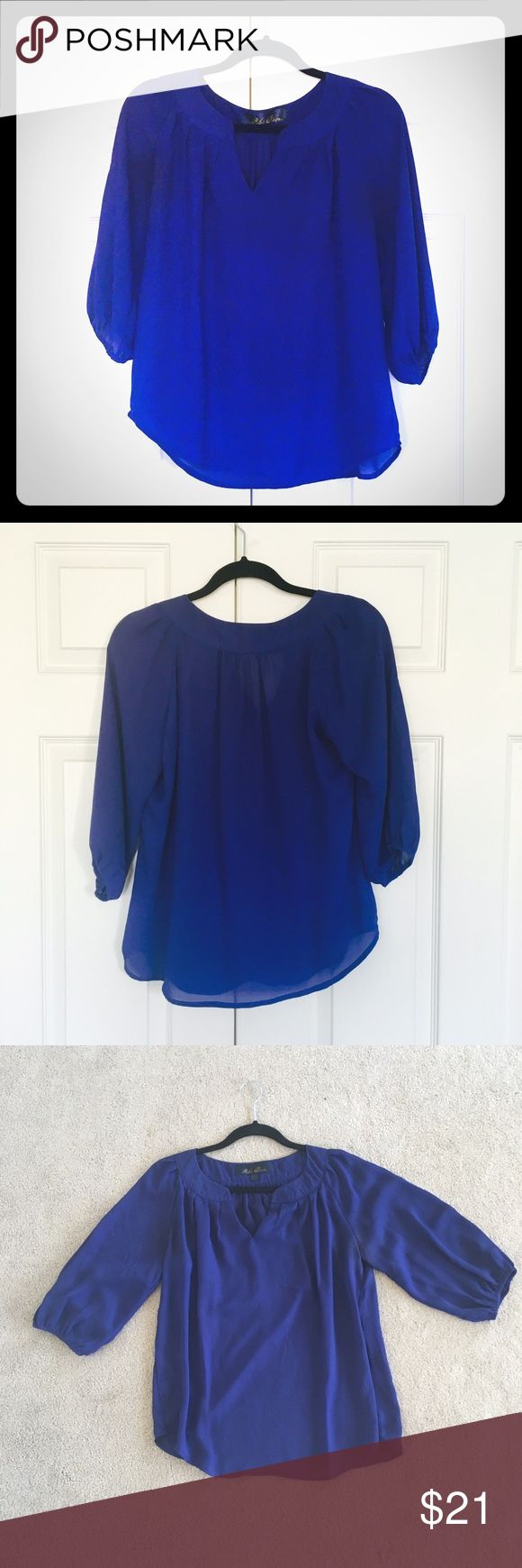 Royal Blue Blouse Outfit 58