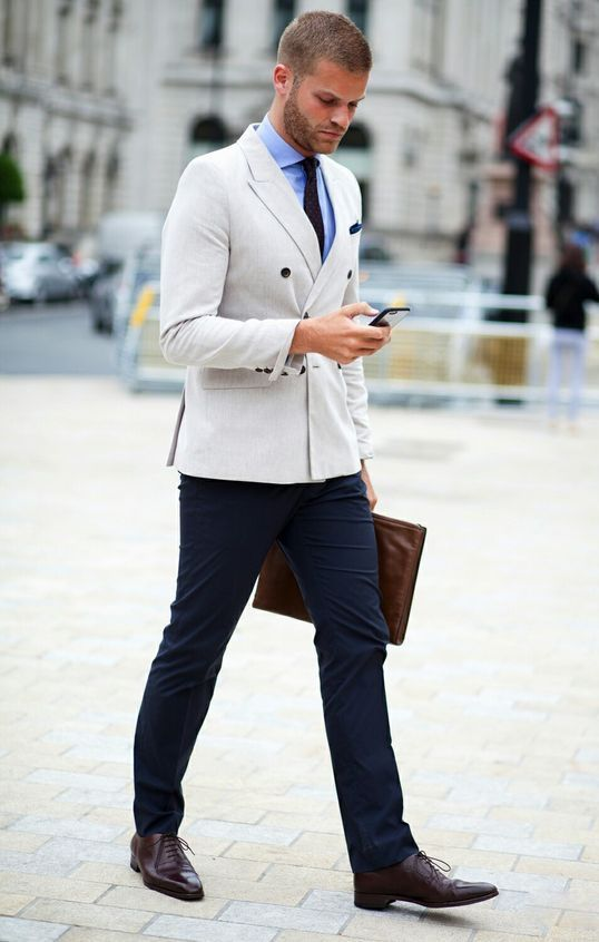 Street Style , Breasted Jacket