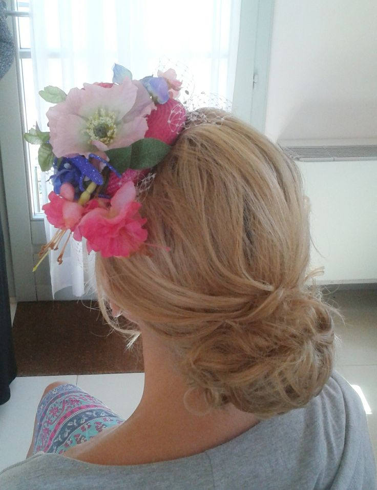 WEDDING HAIR AND MAKEUP IN TUSCANY, ITALY by Janita  http://www.hairmakeupnails-rome.com/ messy low bun