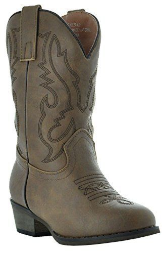 The perfect boots for your little cowgirl or cowboy in the making. The Country Love cowboy boots for kids offer the same classic western styling found in grown-up versions – but in sizes for your child. Made of durable synthetic leather with western stitching on the foot and shaft, these... http://shoes.bestselleroutlet.net/product-review-for-country-love-little-rancher-kids-cowboy-boots-zp-k01/