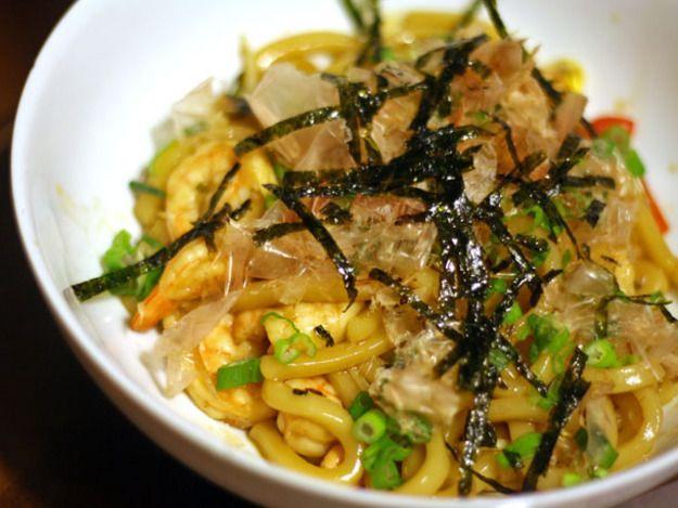 Yaki Udon With Shrimp