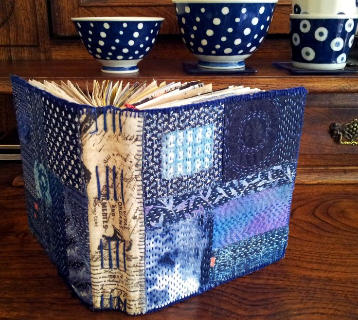 A recent journal, hand stitched soft cover  by Ailie Snow.