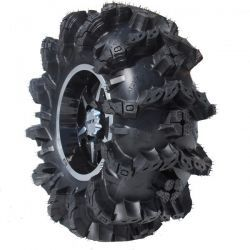 Super Swamper's Black Mamba extreme ATV mud tire. I imagine it's gonna take some Gorilla axles to handle these beasts.