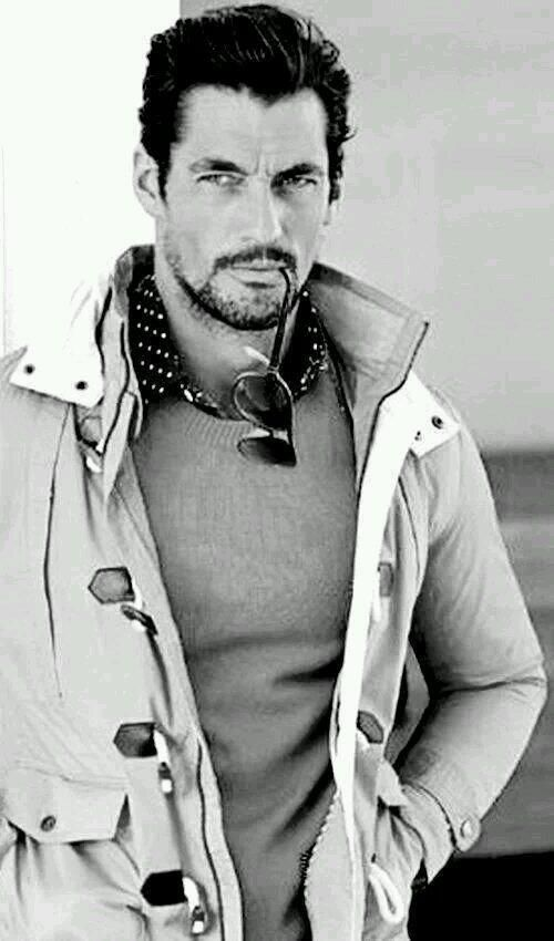 Oh, that I were a pair of sunglasses that I may be partially inside of David Gandy's mouth.