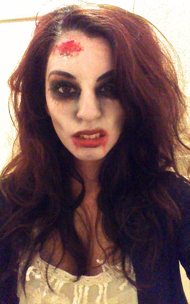 Today I Did A Simple Zombie Makeup Perfect For Halloween. Used A White Base For The Face Black ...