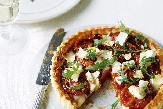 Tomato tart with goat's cheese recipe
