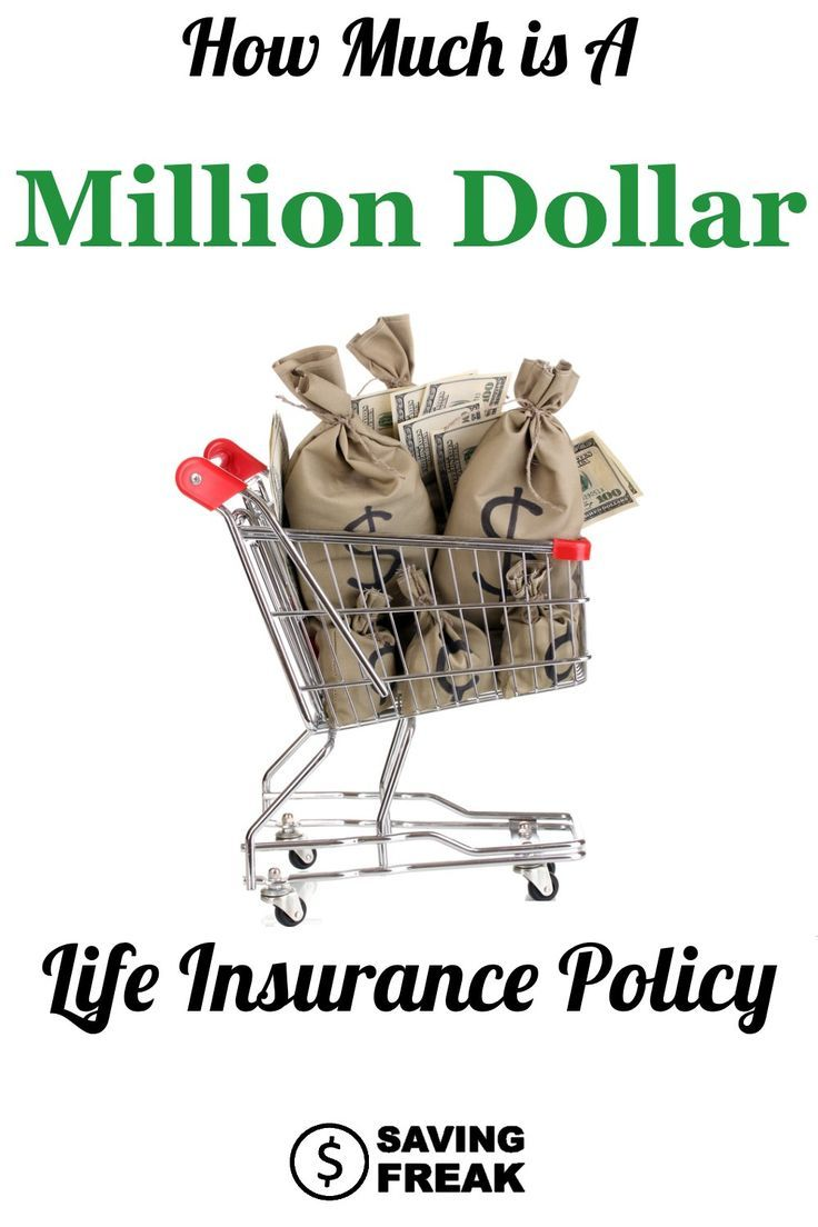 How much is a one million dollar life insurance policy